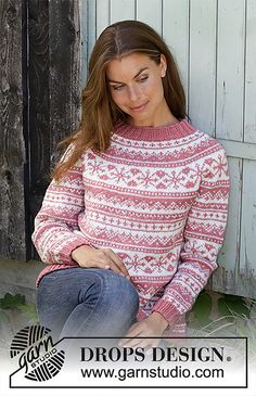 Nordic - Free knitting patterns and crochet patterns by DROPS Design Drops Design, Fair Isle Knitting, Free Knitting, Sweater Knitting Patterns, Crochet Patterns, Tejido Fair Isle, Laine Drops, Crochet Design, Nordic Sweater