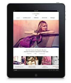 Lancel iPad [Proposal] by Steven Porquier, via Behance