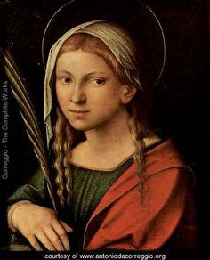 Saint Catherine of Alexandria | St. Catherine of Alexandria - Correggio (Antonio Allegri) - www ...