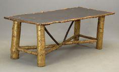 Antique Adirondack rustic,camp,hunting lodge,cabin birch bark porch furniture | eBay
