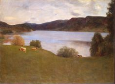 Landscape with a Lake, by Erik Theodor Werenskiold (Norway)