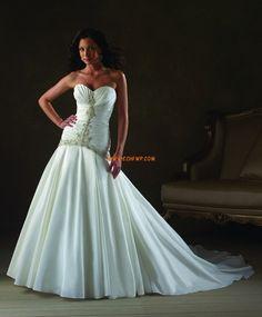 Prinsess Glamorös & Dramatisk Snöra upp Bröllopsklänningar 2014