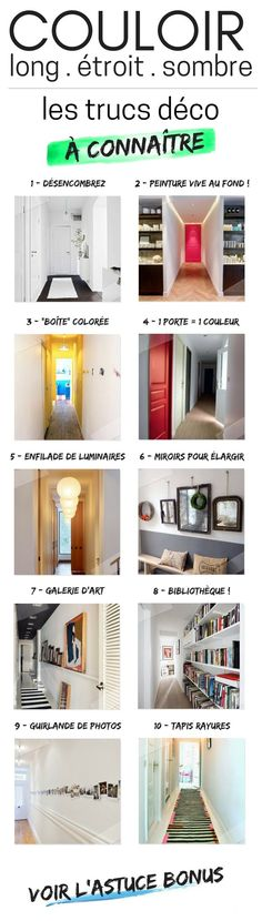 Long and Narrow Corridor Decoration Effective Tips + Errors to Avoid) – - New Deko Sites Home Staging, Ideas 2017, Corridor Design, Home Hacks, Home Projects, Decoration, Sweet Home, New Homes, Loft