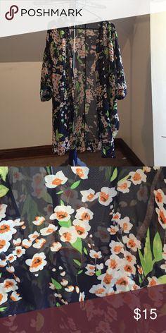 Ladies Floral Kimono EUC Ladies floral kimono. Size Small, fits more like a medium. Jackets & Coats Capes