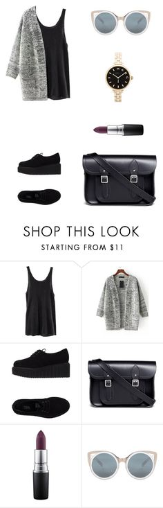 """Untitled #2033"" by ihavepashion-forfashion ❤ liked on Polyvore featuring H&M, Karl Lagerfeld, The Cambridge Satchel Company, MAC Cosmetics, Erdem, Marc by Marc Jacobs, women's clothing, women's fashion, women and female"