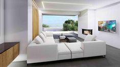 Διακόσμηση Μεζονέτας - Μονοκατοικία στο Πανόραμα Θεσσαλονίκη Γραμμική α   Εσωτερική διακόσμηση σπιτιού. Μεζονέτα με μοντέρνα και πολυτελή σχεδίαση και διακόσμηση εσωτερικών χώρων στο Πανόραμα. Orientation: 1 Airbnb Design, Interior Design, Architecture, Furniture, Home Decor, Nest Design, Arquitetura, Decoration Home, Home Interior Design