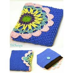iPad Cover - free crochet pattern and video from YARNutopia by Nadia Fuad