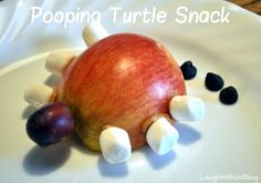 Pooping Turtle Snacks--Wonder why he has six legs?  Or why pooping?  You'll have to read the story!  lol ~LaughWithUsBlog.