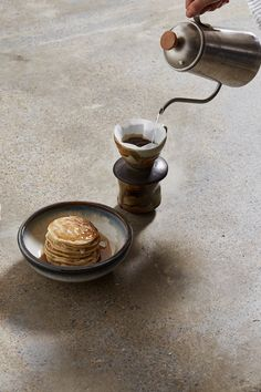 Ceramic Pour Over + Pinch Cup - Teak