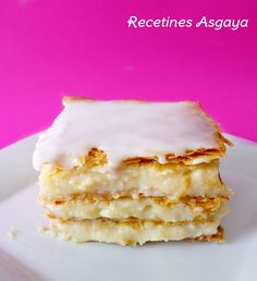 Millefeuille Cake /Tarta Emparedado o Milhojas de Crema para Mi Cumple_ by Recetines Asgaya_ by Recetines Asgaya