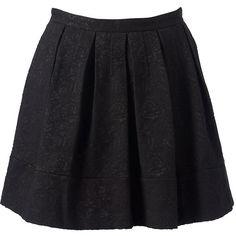 Forever New Natalie Prom Skirt ($35) ❤ liked on Polyvore featuring skirts, bottoms, saias, faldas, black, flower print skirt, black skirt, forever new, jacquard skirt and floral printed skirt