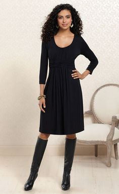 Luxurious Black Dress: #Soma Wrapped Dress in Black #SomaIntimates