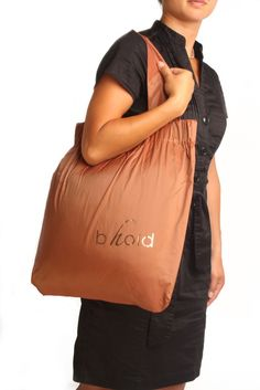 Copper 2 Handle Shopping Bag by bholdbags on Etsy