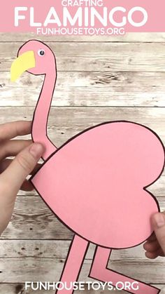 We created this simple heart flamingo that is easy enough to create with your preschooler. Add some glitter or feathers to make it more exciting for older Children. For more ideas, visit FunHouseToys.org #craftingreels #crafts #kidsactivities #homeschoollife #craftsforkids #craftsfortoddlers #kindergartenteacher #preschoolactivities #preschoolathome #preschoolteacher #toddleractivitiesathome #kindergartenclassroom #preschoolteacher #preschoolclassroom #preschoolcurriculum #preschoolhomeschool Preschool At Home, Preschool Curriculum, Preschool Classroom, Kindergarten Classroom, Toddler Preschool, Toddler Crafts, Toddler Activities, Preschool Activities, Crafts For Kids