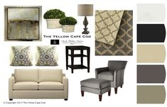Gray and Tan Room~The Yellow Cape Cod