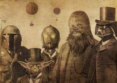 Vintage Star Wars photo group