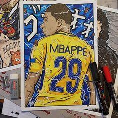 Nominé au ballon d'Or @k.mbappe29 💪🏽🇫🇷 KYLIAN MBAPPE Format A4. Vous vous rappelez des cartes l'année dernière pour mes cours ? Nouveaux visus bientôt 😎 #Mbappe #kylianmbappe #paris #icicestparis #france #psg #football #LDC #ss2 #superguerrier #drawing #art #fanart