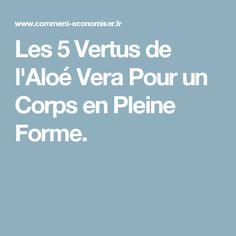 Les 5 Vertus de l'Aloé Vera Pour un Corps en Pleine Forme.
