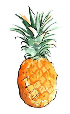 Menú para los días de menstruación: qué comer y no comer #piña #pineapple #fruits #fruta #ilustracion #illustration