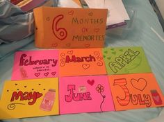 6 month anniversary card idea ♡lets have a date♡ pinterest