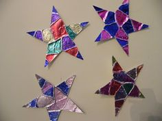Twinkle, twinkle: Colored tin foil stars