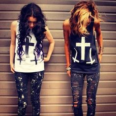 Very punk rock⚫⚪ Glam Rock, Besties, Bestfriends, Summer Outfits, Cute Outfits, Rock Outfits, Party Outfits, Matching Outfits, Summer Clothes