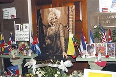 Shrine outside the Frank E. Campbell Funeral erected in honour of the late Celia Cruz