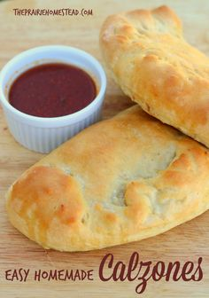 Easy Homemade Calzones-- a fun twist to pizza night!
