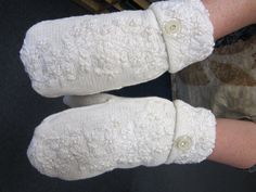 The DIY Sweater Mitten Making Mansion and Tutorial: A Blast From the Past: 2012   The Renegade Seamstress Renegade Seamstress, Work Boot Socks, Sweater Mittens, Knit Sneakers, Cool Sweaters, Refashion, The Past, Mansions, My Style