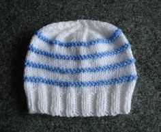 Knitting Pattern Hat Straight Needles Free : Knitted Baby Items on Pinterest Baby Blankets, Baby ...
