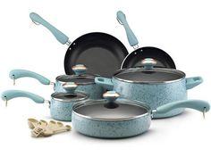 Paula Deen Signature Porcelain Nonstick Cookware Set (15-pc.) in Robin's Egg Blue, $120.00