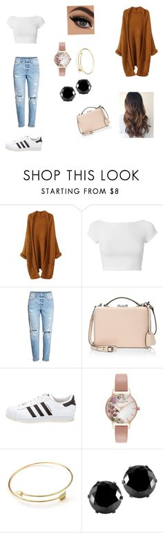 """""""Untitled #18"""" by outfitttttttts ❤ liked on Polyvore featuring Helmut Lang, Mark Cross, adidas, Olivia Burton and West Coast Jewelry"""