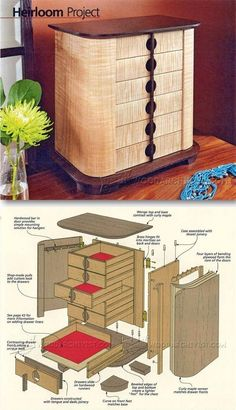 Jewelry Chest Plans - Woodworking Plans and Projects   http://WoodArchivist.com