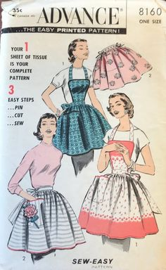 931df9f0f3 Items similar to Vintage APRON - Advance Sewing Pattern - 1950s - Classic