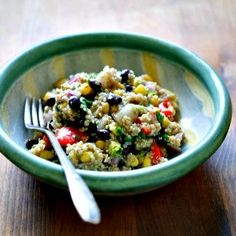 Make this delicious and healthy quinoa salad for a potluck (or keep it all for yourself).