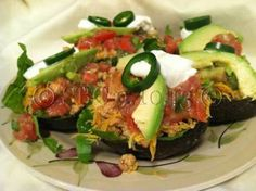 Avocado Taco Bowls   For Weight loss support, more great recipes, motivation, tips, and more join our FREE support group: www.facebook.com/groups/carrieskinnyfriends