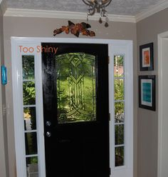 Inspiration Interior. 30 Dashing Black Interior Doors For Home Interior Garnish: Classy Main Half Glass Wooden Black Interior Doors Between White Wooden Window Glass Frames And Lovely Pictures Attach On Grey Wall Color As Living Wall Decors And Sweet Gypsum Ceiling Ideas For Decorate Living Areas Design Ideas