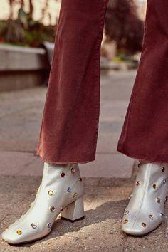 Crosswalk Metallic Gem Ankle Boot | Urban Outfitters