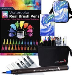 Online shopping from a great selection at ArtShip Design Store. Watercolor Brush Pen, Water Brush, Pen Sets, Vivid Colors, Amazon, Artist, Design, Products, Amazons