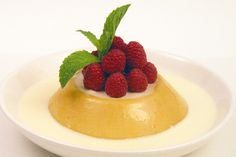 Chinese/Indian Mango Pudding, like they serve in Dim Sum restaurants. Alton Brown's method for blooming gelatin: -Dissolve gelatin in 1 cup cold liquid (from recipe), let stand for 5 minutes. -Heat the mixture in the microwave for 3 minutes, stopping to stir every minute, until it reaches 150°F. -Slowly pour the remaining cold liquid of the recipe into the warm mixture, stirring constantly. -Proceed with recipe.