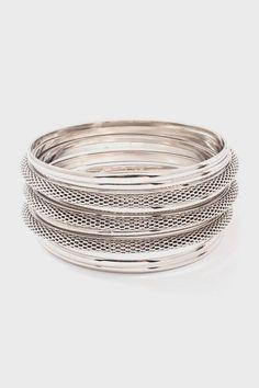 Mesh Arron Bracelet in Silver