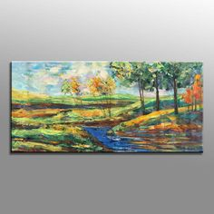 Landscape Painting Abstract Canvas Painting Original by artfan1981
