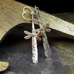 Dragonfly Dreams Earrings without gemstones by LavenderCottage, $ 40.00
