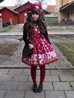 Darker colors, but still considered sweet Lolita!