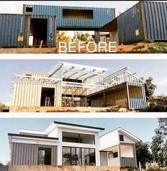 Containers are the strongest structure available--. - Containers are the strongest structure available--. Shipping Container Home Designs, Container House Design, Tiny House Design, Shipping Containers, Building A Container Home, Container Buildings, Steel House, Steel Buildings, House Goals