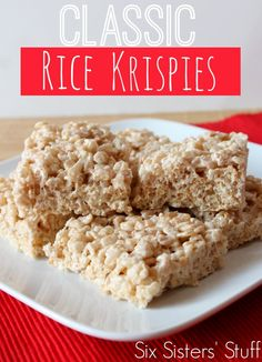 How to Make Classic Rice Krispies Treats. Even with all the treats we make, these are still a favorite! Sixsistersstuff.com
