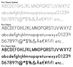 Blue Vinyl Fonts Print Clearly — Sans Serif —A textface that has the look of a primer worksheet for teaching handwriting. Print Clearly is available in three styles Regular, Dashed and Bold. Handwriting Sheets, Teaching Handwriting, Handwriting Worksheets, Learning To Write, Writing Practice, Elementary Teacher, Elementary Schools, Teacher Fonts, Spelling Activities