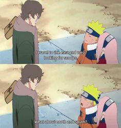 Naruto, Sakura and Sukea. I can't with naruto he is too funny