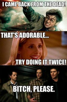 Ha!  Harry Potter, Buffy, Supernatural.  I stopped counting the number of times Sam & Dean have died & come back!