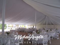 Contact MichaelAngelos Events for this Illusion Tent fabric treatment!